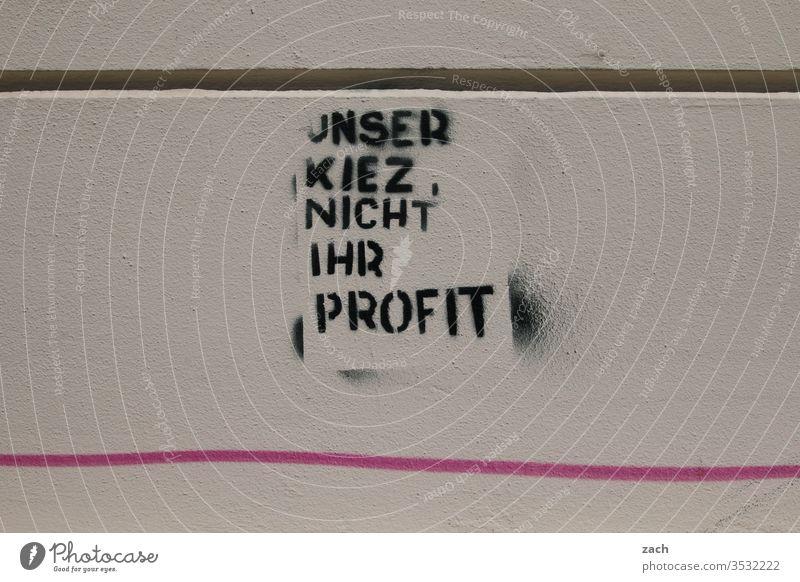 Aufschrift an einer Fassade zum Thema Mieten und Wohnungssuche in der Großstadt Schilder & Markierungen Zukunft Schriftzug Buchstaben Street Art Berlin Gebäude