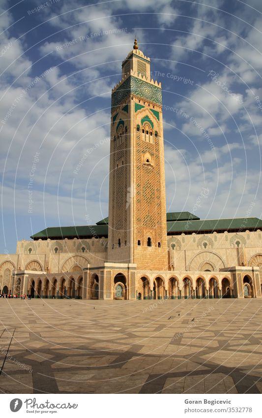 Moschee von Hassan II in Casablanca, Marokko Form Detailaufnahme Architektur Gebäude arabisch hassan Islam Geometrie Minarett Marokkaner muslimisch Muster