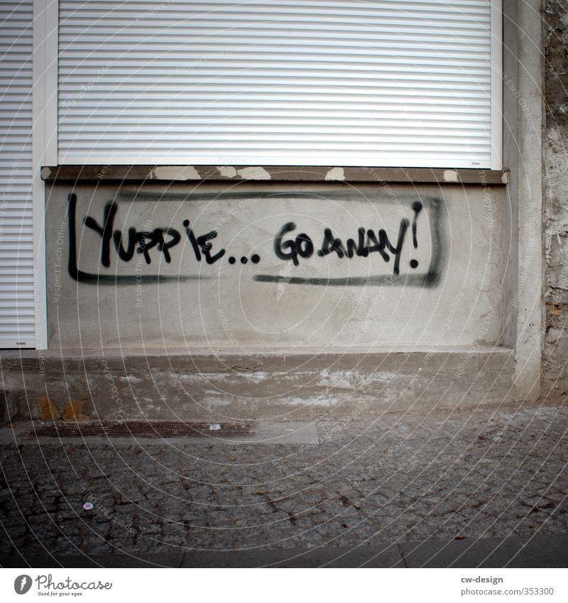 GO AWAY! Kunst Künstler Maler Ausstellung Kunstwerk Architektur Jugendkultur Subkultur Neue Medien Stadtrand Menschenleer Haus Ruine Bauwerk Gebäude Mauer Wand