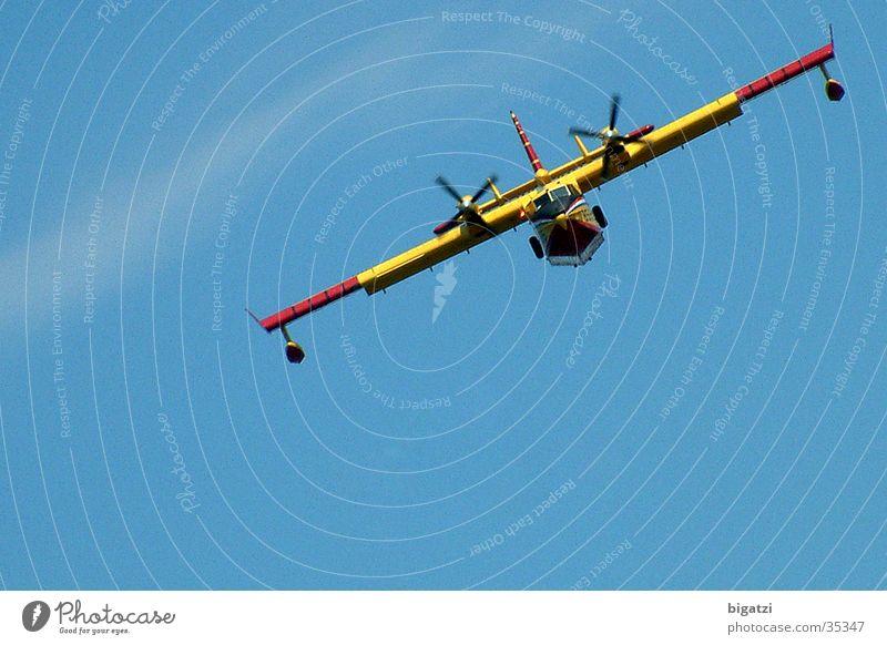 Flieger Himmel Flugzeug Propeller