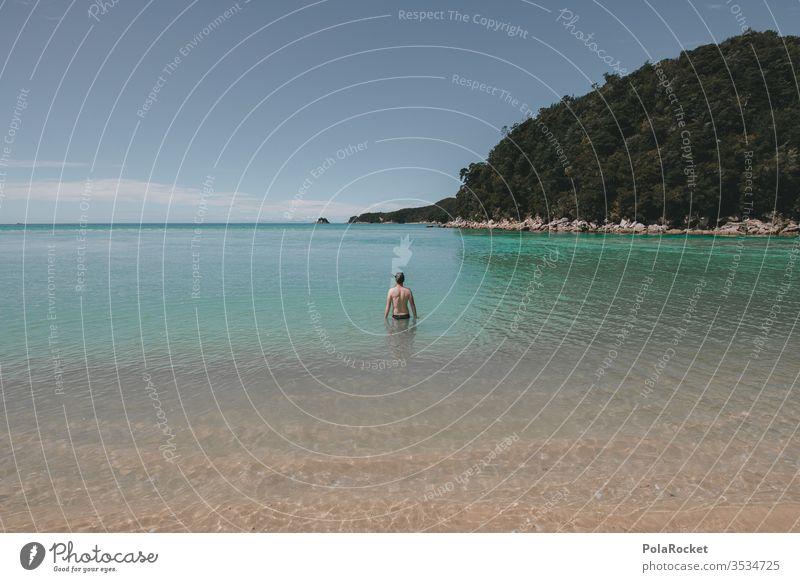 #AS# Badespass Junger Mann baden Paradies Urlaub Sommer Schwimmen & Baden Ferien & Urlaub & Reisen Wasser Meer Schwimmbad Wellen Strand Freude Außenaufnahme