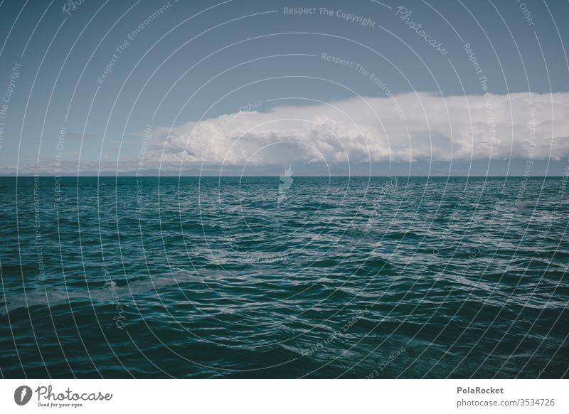 #As# Blau mit Horizont Meer Ozean Schönes Wetter Aussicht Außenaufnahme Wasser Himmel Natur Sommer Küste Ferne Panorama (Aussicht) Ferien & Urlaub & Reisen