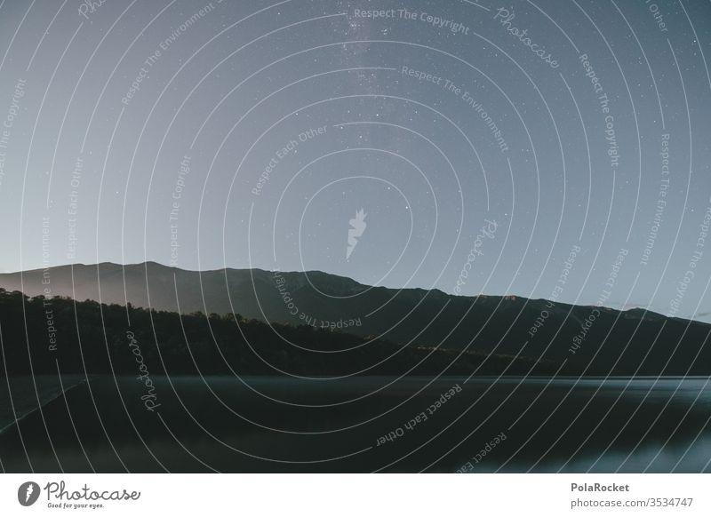 #As# Moon Lake See Seeufer Seeküste Neuseeland Neuseeland Landschaft Gebirge Bergsee Berge u. Gebirge Nacht Sternenhimmel sternenklar Sternenhaufen Sternenzelt