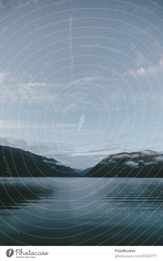 #As# SeeUfer Seeufer Neuseeland Neuseeland Landschaft Wasser Wasseroberfläche blau Berge u. Gebirge