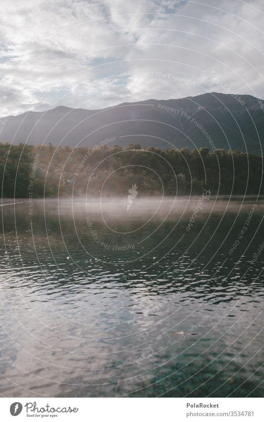 #AS# Guten Morgen, See! Neuseeland Neuseeland Landschaft Nebel Nebelschleier Nebelstimmung Nebelmeer Nebelbank Nebeldecke Bergsee Sonnenaufgang Natur