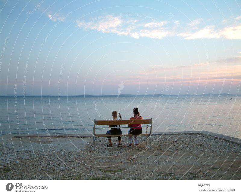 Meerblick Wasser Himmel Strand Ferien & Urlaub & Reisen Wolken