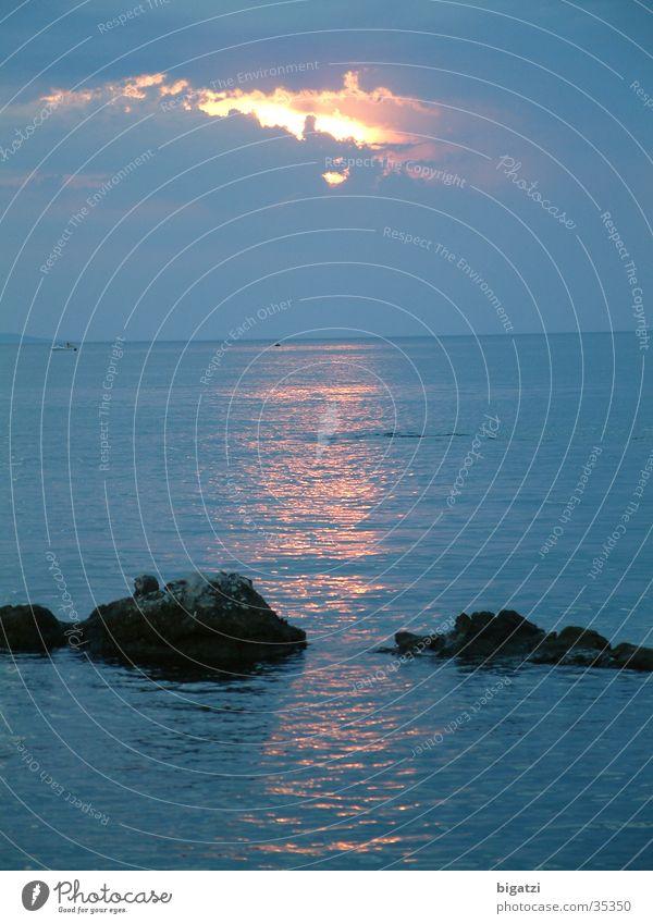 Sonnenuntergang Himmel Meer Wolken Brandung Sonnenaufgang