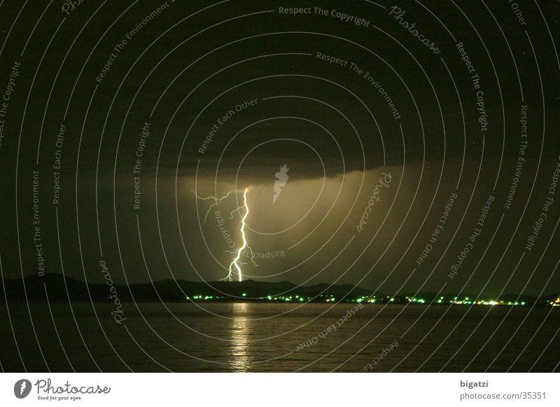 Mitternachtsblitz Nacht Blitze Langzeitbelichtung Gewitter Strandblitz Himmel