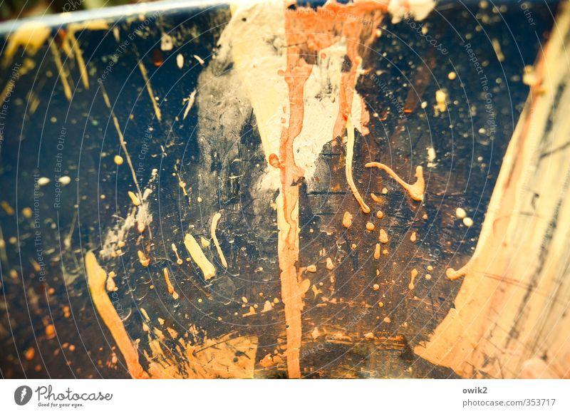 Supernova Kunst Kunstwerk Gemälde Subkultur nah trashig verrückt wild blau braun gelb orange rosa bizarr chaotisch durcheinander Fröhlichkeit Fleck Farbfleck
