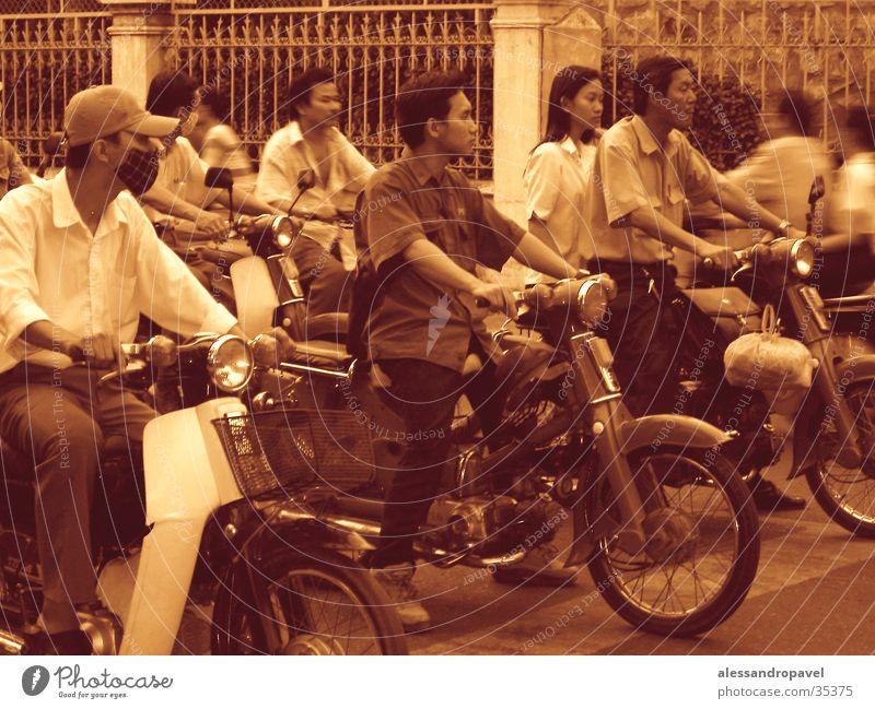 Strassen von Saigon Vietnam Erfolg durcheinander Asien Saigon