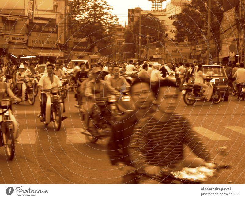 Verkehr in Saigon Erfolg Vietnam durcheinander Asien
