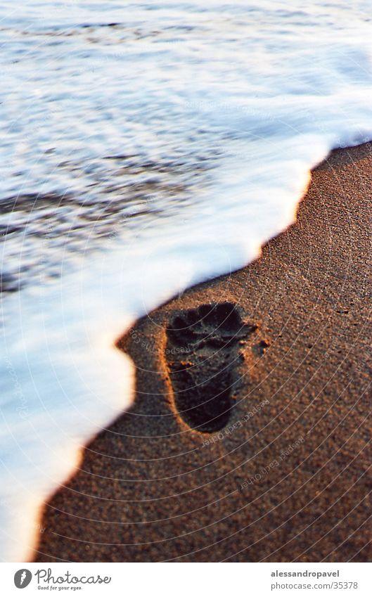 Fußabdruck Meer Italien Fußspur Toskana Spuren