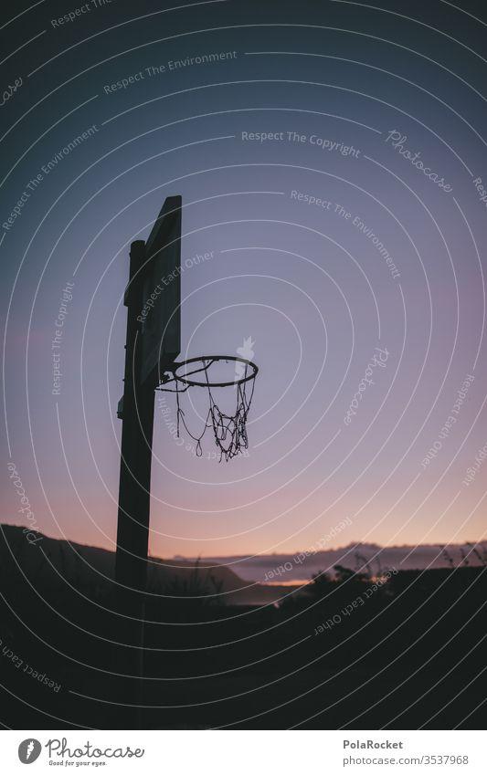 #As# Feierabend-Dreier Baskettballkorb Basketball Basketballkorb basketballfeld basketballnetz Paradies Freizeit & Hobby Urlaub Urlaubsstimmung Menschenleer
