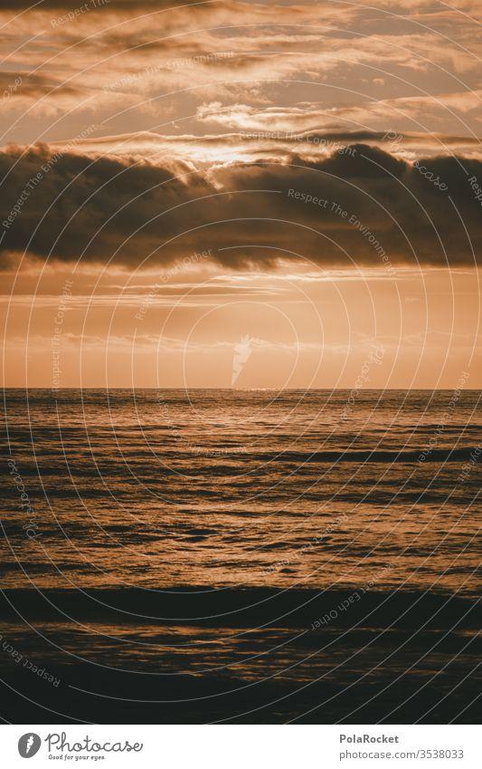 #AS# Wolkenlandschaft Himmel Außenaufnahme Natur Farbfoto Meer Wasser Abendstimmung Abenddämmerung Idylle Hoffnungsfunke Glaube Horizont melancholisch