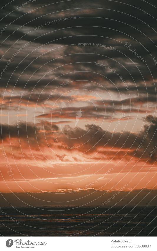 #AS# Auf Wiedersehen für heute Sonnenuntergang Meer breit Melancholie melancholisch Horizont Hoffnung Glaube Hoffnungsfunke Idylle Abenddämmerung Abendstimmung