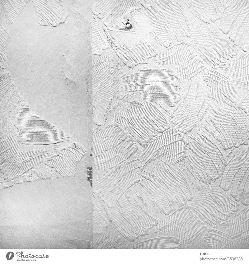 Lebenslinien #130 tapete wand mauer naht fleck oberfläche hell lebenslinien strukturtapete altbau rest sanierungsfall renovierung abgerissen trashig schwung