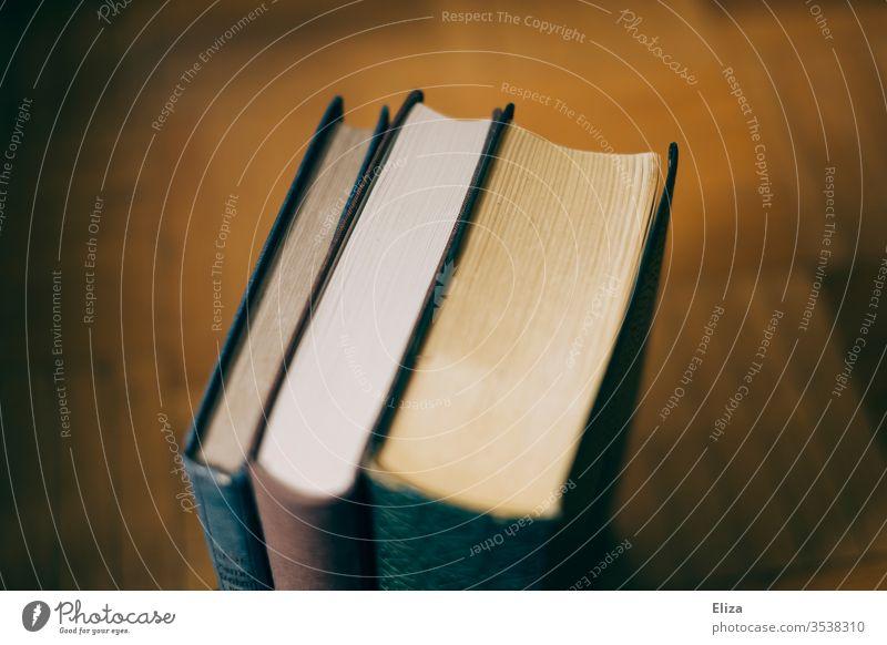 3 alte Bücher Antiquariat lesen drei Bibliothek Bildung Literatur vergilbt antiquarisch bunt Papier Printmedien Märchen retro Buch lernen Wissen analog Vintage