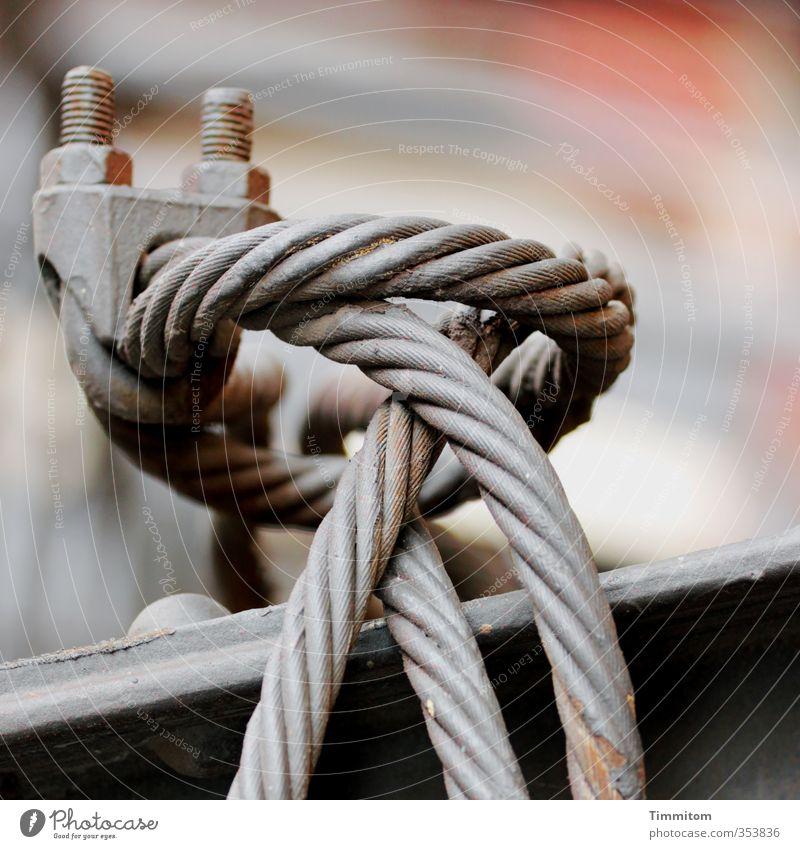 Baumaterial / Anspannung. grau Metall ästhetisch fest Material Drahtseil Klemme Drehgewinde