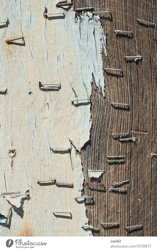 Vergessene Botschaften Wand Holz alt Maserung Strukturen & Formen Außenaufnahme Menschenleer Holzbrett braun Muster Nahaufnahme Detailaufnahme Tag Sonnenlicht