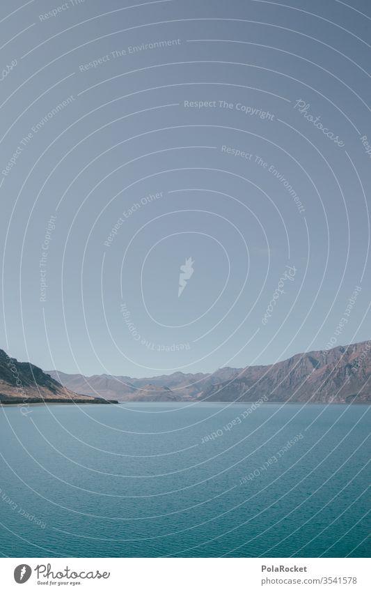 #As# Neuseeland 2D Neuseeland Landschaft See Seeufer Bergsee Seeküste Seebrücke Wasser Wasseroberfläche blau Idylle grafisch Außenaufnahme Berge u. Gebirge