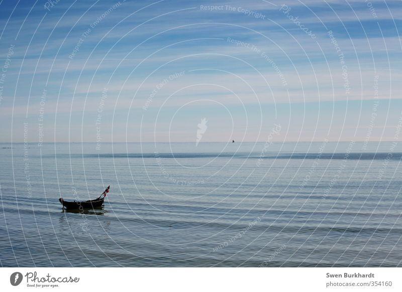 Komm, stell dir vor, wir wären am Meer... Natur Ferien & Urlaub & Reisen blau Wasser Sommer Sonne Landschaft Erholung Strand Ferne Wärme Freiheit Küste Wetter