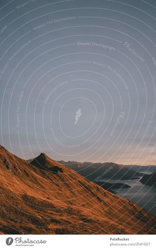 #As# BergGold Berge u. Gebirge Berghang Wanaka Roys Peak Neuseeland Neuseeland Landschaft Gipfel Himmel Natur Farbfoto Außenaufnahme Umwelt Menschenleer
