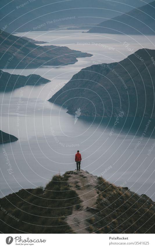 #AS# Weitblick Fernweh Idylle Ferien & Urlaub & Reisen Gipfel Natur Außenaufnahme Farbfoto Umwelt Himmel Landschaft weite Freiheit rot Bergsee Explorer See