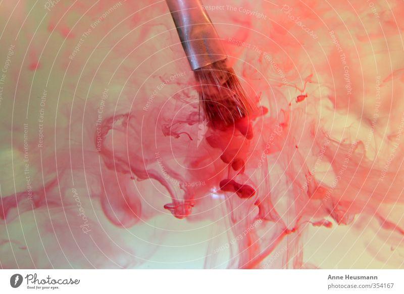 Pinselbad Farbe Wasser rot Kunst Arbeit & Erwerbstätigkeit Freizeit & Hobby ästhetisch Kreativität nass Idee Kultur malen Sauberkeit Reinigen streichen Gemälde