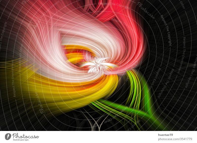 Abstrakter farbenfroher Hintergrund Muster abstrakt Design Textur Bewegung hell pulsierend Licht winken Grafik u. Illustration Farbe Kunst Verwirbelung neu Form