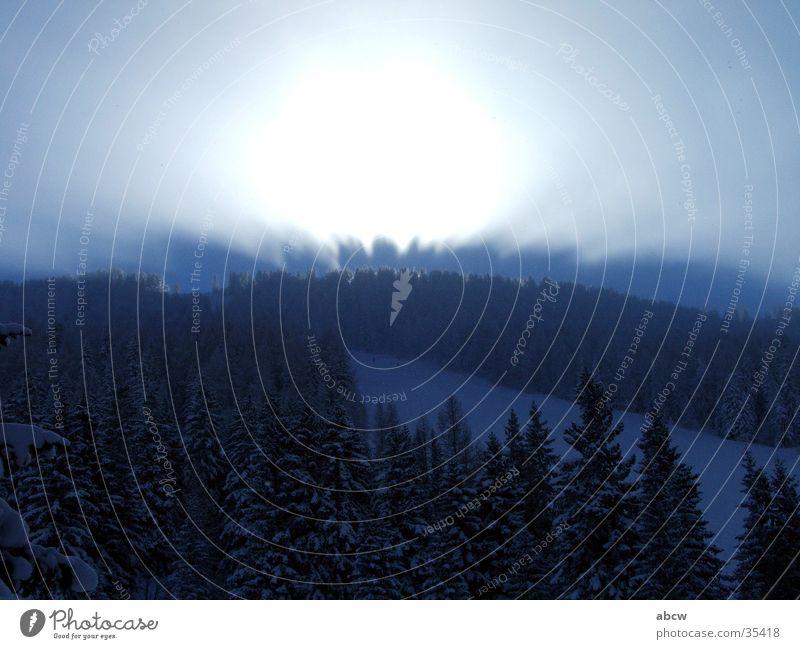Licht Berge u. Gebirge Österreich Skipiste