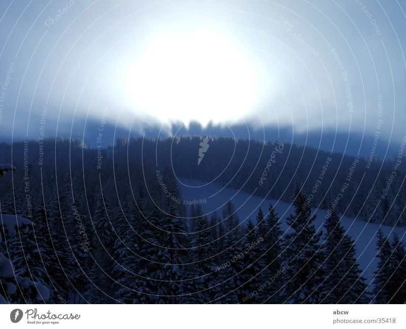 Licht Österreich Skipiste Berge u. Gebirge