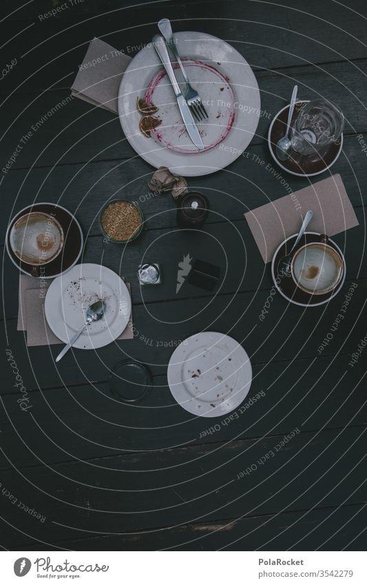 #As# Lecker war's Kaffee Kaffeetrinken Kaffeepause Kaffeetasse Kaffeetisch Kaffeebecher leer fertig fertig gegessen Tisch aufgegessen Tasse rohrzucker