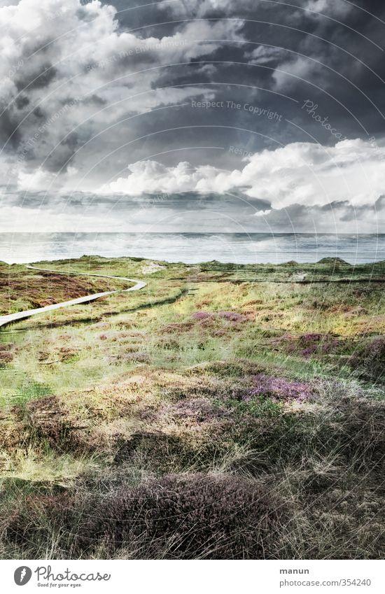 Nordseeküste Himmel Natur Wasser Pflanze Einsamkeit Landschaft Erholung Wolken Ferne Küste Sand Horizont Luft Wetter Wind Erde