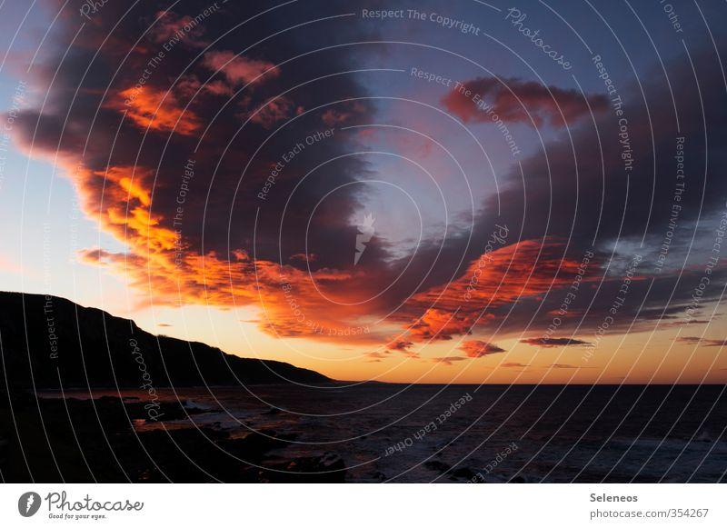 ein guter Start Himmel Natur Ferien & Urlaub & Reisen Sommer Sonne Meer Landschaft Wolken Strand Ferne Umwelt Küste Freiheit Tourismus Ausflug Abenteuer