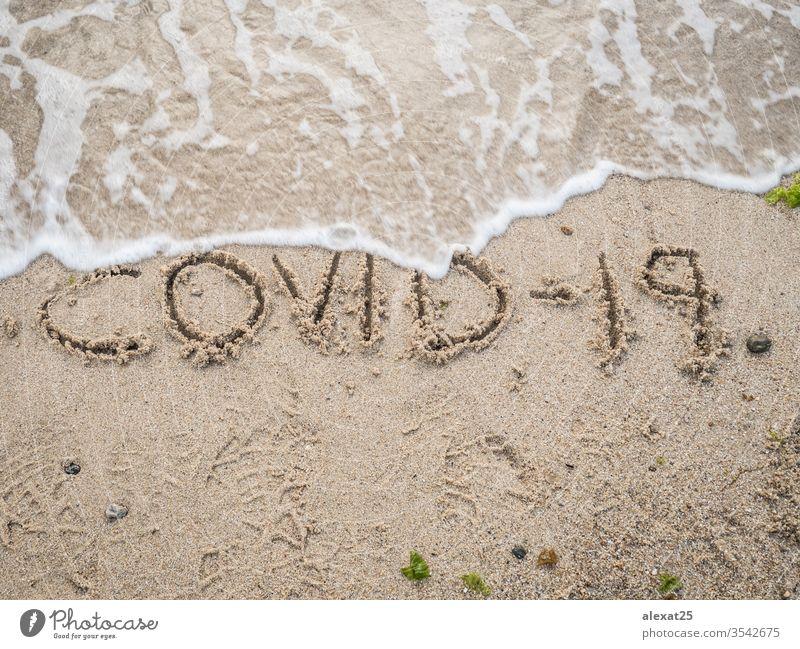 Ende des COVID-19-Konzepts 2019 Hintergrund Charakter Korona Coronavirus covid-19 Kur niedlich Quarantäne beenden kämpfen flach Glück Gesundheit Krankheit