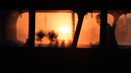 Auf dem Ausflugsschiff geht ein Tag zu Ende Abenteuer nach Feierabend Hintergrund Hintergrundbeleuchtung schön Berlin Boot Hauptstädte Großstadt Abend