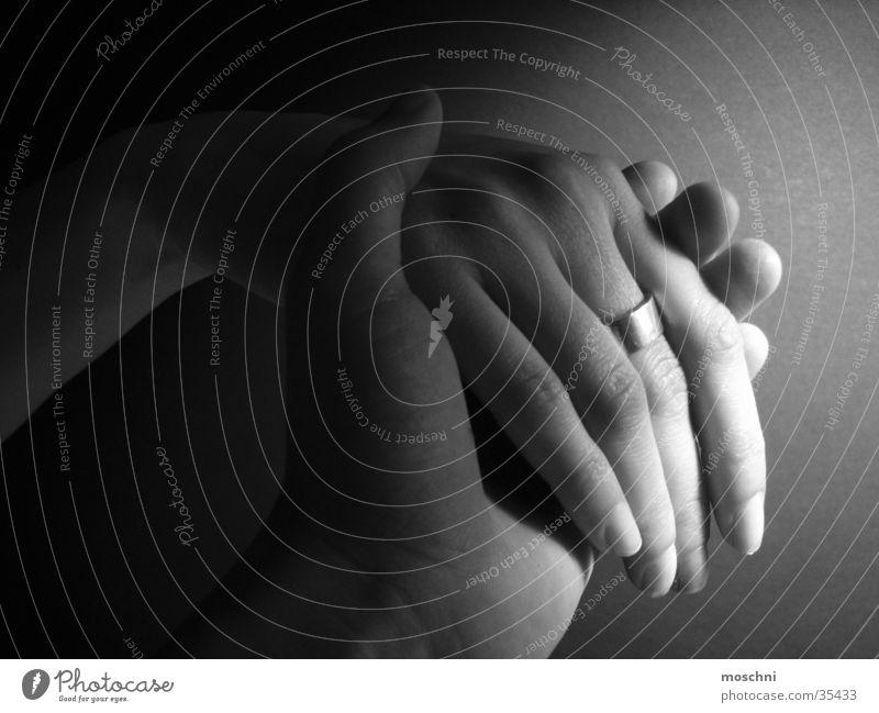 Hände Hand Finger Ring Frau Mensch