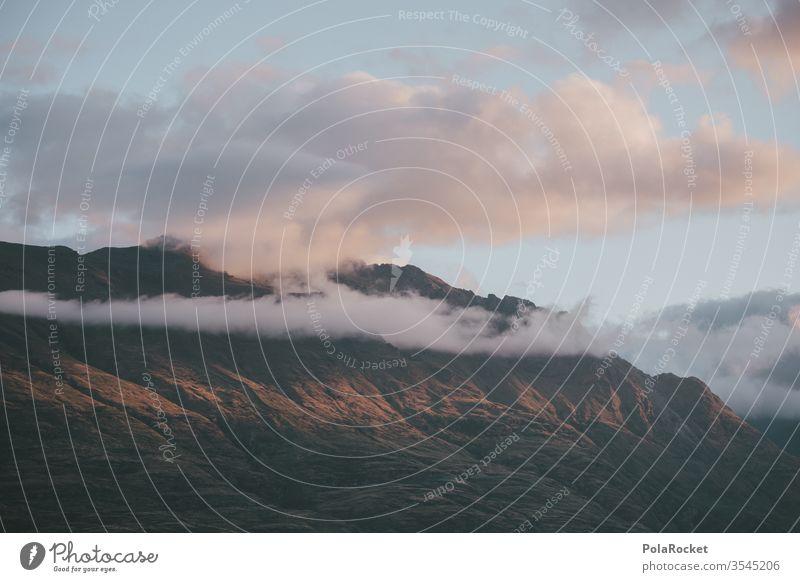 #As# Wolke an Berg Neuseeland Neuseeland Landschaft Wolken Wolkenformation Berge u. Gebirge Bergkette Gipfel Natur Außenaufnahme Farbfoto Umwelt Himmel Felsen