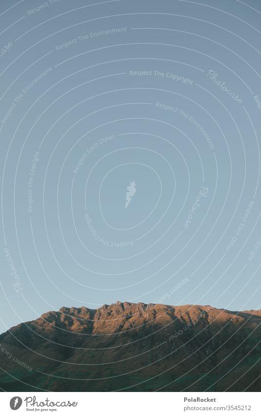#As# Lichtblick Lichtschein Berge u. Gebirge Bergkette Berghang Neuseeland Neuseeland Landschaft Himmel Natur Außenaufnahme Bergsteigen Bergkamm Morgen