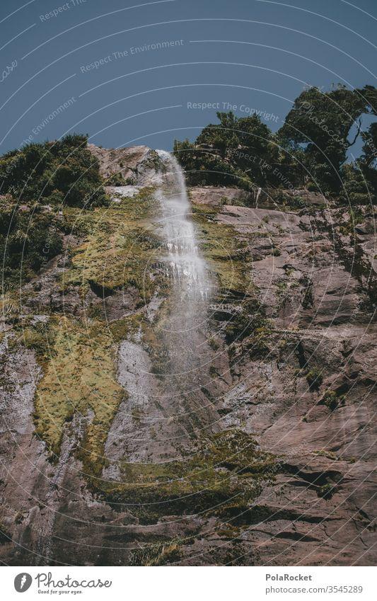 #As# Tropfenfall Wasserfall Wassertropfen Neuseeland Neuseeland Landschaft Milford Sound Natur Außenaufnahme Berge u. Gebirge Farbfoto Menschenleer