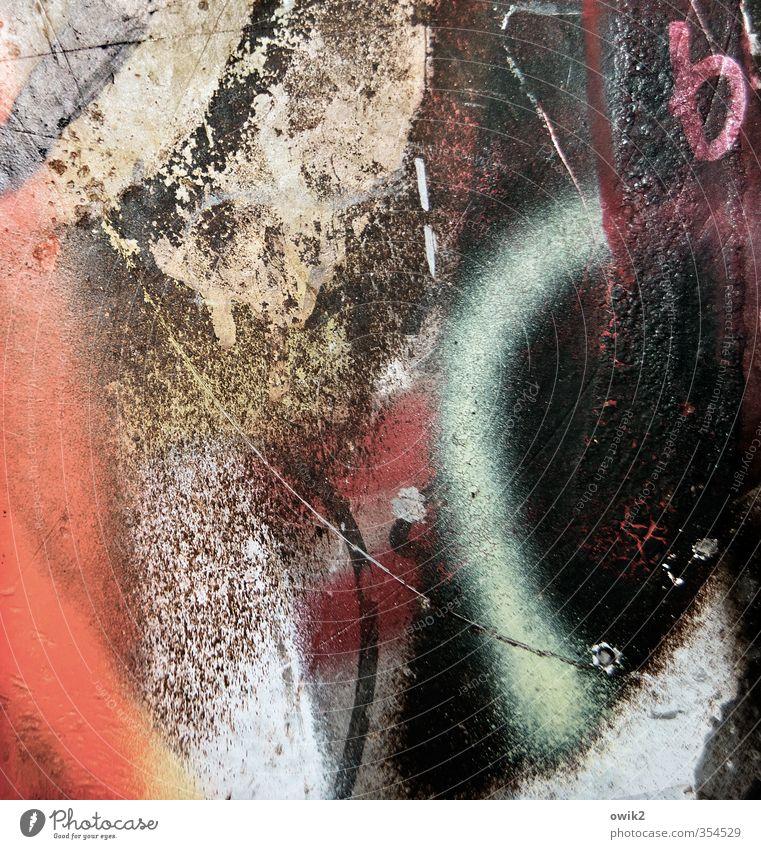 Subkultur Kunst Graffiti gigantisch Unendlichkeit Originalität stark trashig Stadt verrückt wild mehrfarbig Freude Optimismus Mut bizarr chaotisch Desaster