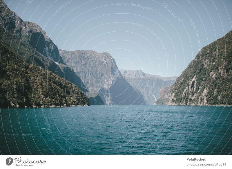 #As# Milford Sound See Seeufer Fjord Neuseeland Neuseeland Landschaft Berge u. Gebirge Natur Außenaufnahme Wasser Farbfoto Tag Menschenleer Küste Umwelt