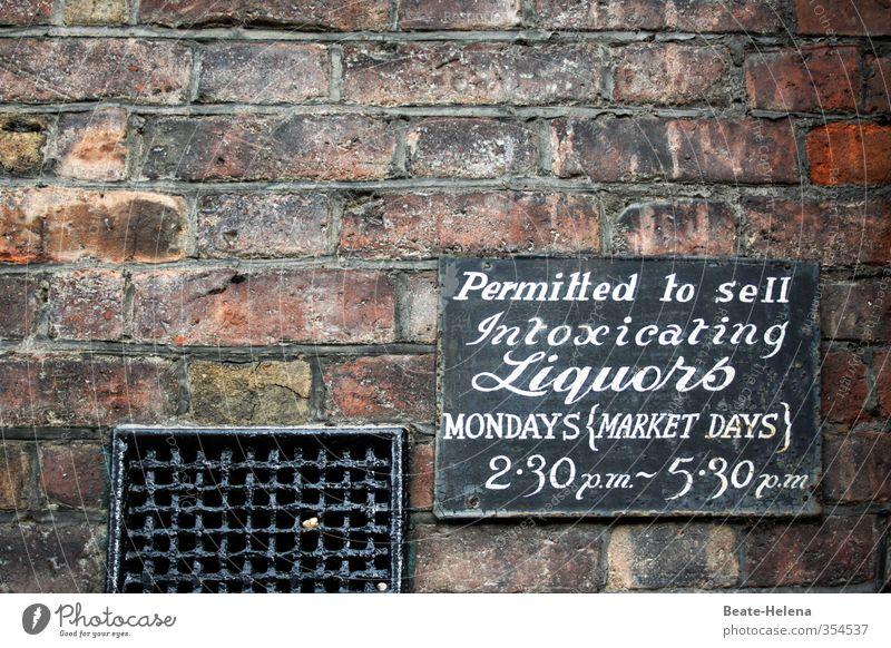 wenn der Montag herbeigesehnt wird Freude schwarz Wand Mauer braun Freizeit & Hobby kaufen Coolness Getränk Krankheit Alkohol bezahlen Durst Sucht Begrenzung