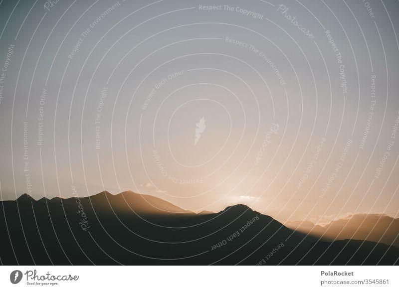 #As# Es dämmert am Berg Dämmerung dämmerung  abendstimmung Dämmerungsaufnahme Berge u. Gebirge Sonnenuntergang Neuseeland Neuseeland Landschaft Natur