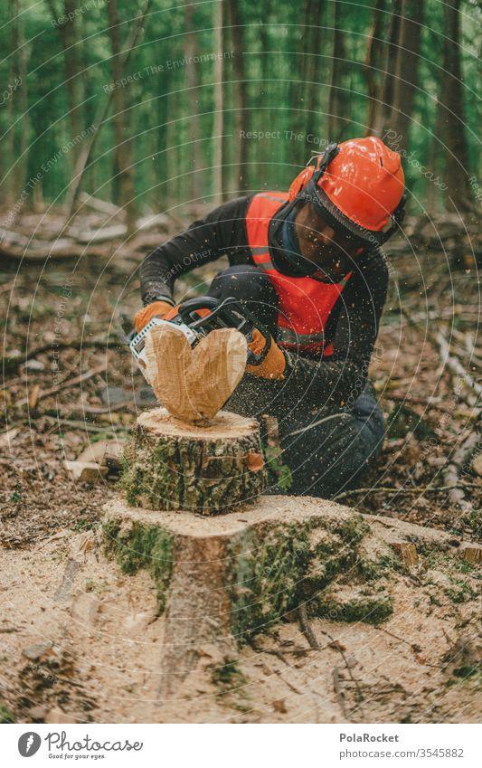 #S# Waldarbeiter mit Herz II Holz Brennholz Kettensäge Schutzausrüstung Helm Meter Buche Holzarbeiten Natur Baum Holzfäller Forstwirtschaft Baumstamm Abholzung