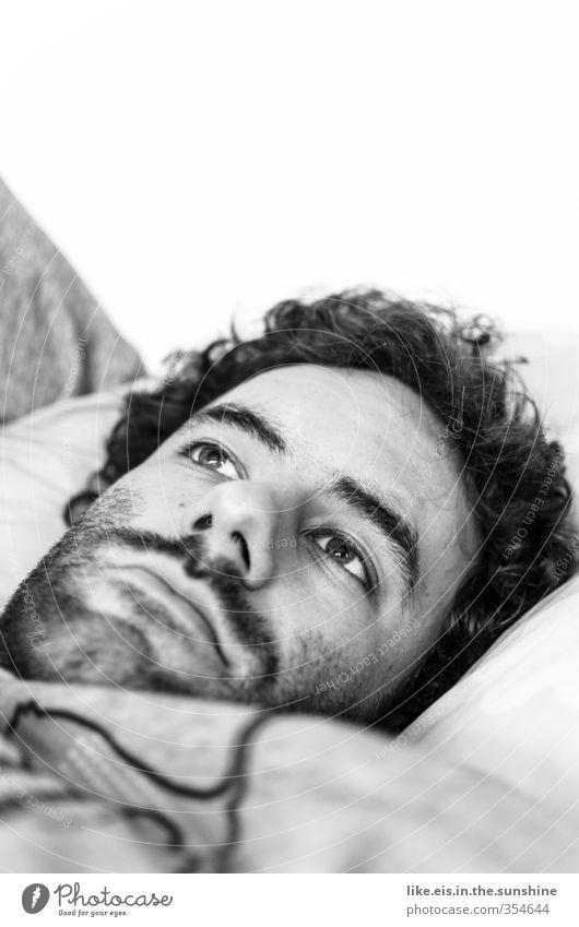 ...soll ich!? schön Haare & Frisuren Gesicht Leben Wohlgefühl Zufriedenheit Sinnesorgane Erholung ruhig Häusliches Leben Bett maskulin Junger Mann Jugendliche