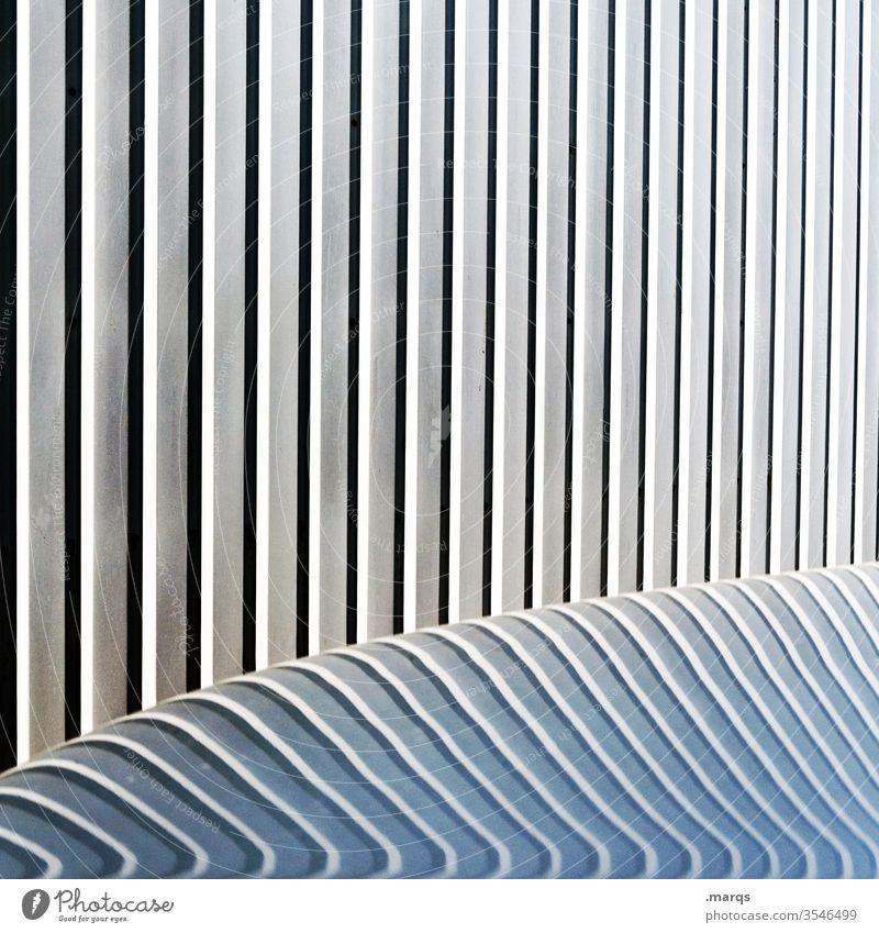 Motorhaube abstrakt Linien Grafik u. Illustration grau Strukturen & Formen Design Hintergrundbild Fassade Streifen minimalistisch einfach Reflexion & Spiegelung