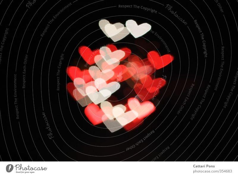 love is everything we need Nachtleben Veranstaltung Valentinstag Muttertag Wärme rot weiß Liebe Verliebtheit Romantik Licht Lichterscheinung Herz
