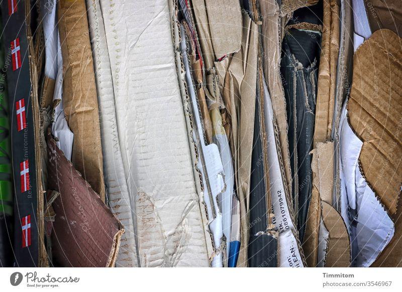 Gesammelte Kartonagen Faltschachtel Verpackung Schachtel Abfall Recycling Müll Entsorgung