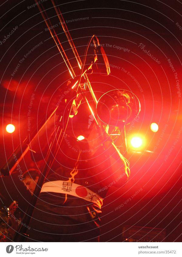 posaune Posaune rot live Reggae Konzert Musik backlight Schnur Einsamkeit